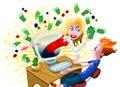 Win Money Online Royalty Free Stock Photo
