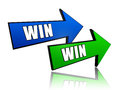Win win in arrows Royalty Free Stock Photos