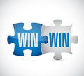 Win win puzzle illustration design over a white background Stock Photography
