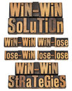 Win-win strategy in letterpress Stock Photography