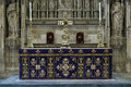 Winchester hampshire uk march altar in winchester cathedr cathedral on Stock Photography