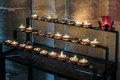 Winchester hampshire uk march candles in winchester cathe cathedral on Stock Photography