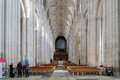 Winchester hampshire uk march interior view of winchester cathedral in on unidentified people Stock Images