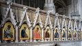 Winchester hampshire uk march religious paintings in winc cathedral on Royalty Free Stock Photos
