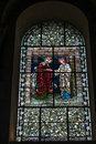 Winchester hampshire uk march stained glass window in win cathedral on Royalty Free Stock Image