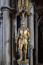 Winchester hampshire uk march statue of joan of arc in wi cathedral on Royalty Free Stock Photos