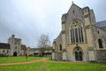 WINCHESTER, UK - FEBRUARY 5, 2017: Hospital of St Cross and Almshouse of Noble Poverty