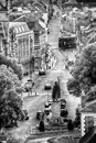 Winchester uk town view in black and white Stock Image