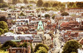 Winchester uk town view from high up Royalty Free Stock Photo
