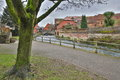 WINCHESTER, UK: Walk along the River Itchen leading to the City Mill Royalty Free Stock Photo