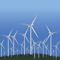 Wind Alternative energy station Stock Photo