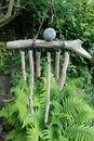 Wind chime a hand made wooden Royalty Free Stock Image