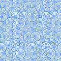 Wind clouds seamless pattern