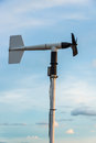 Wind direction indicator in blue sky Royalty Free Stock Images