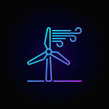 Wind energy linear colorful icon
