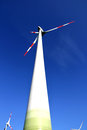 Wind energy photo of a turbine Royalty Free Stock Photos