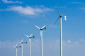 Wind energy turbines. Royalty Free Stock Images