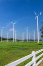 Wind energy turbines. Stock Image