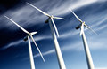 Wind farm, Industrial Eolic installation Royalty Free Stock Image