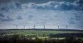 Wind Farm Turbines on Horizon Yorkshire England