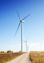Wind generator over blue sky Royalty Free Stock Photos