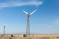 Wind generators in egypt against the sky Stock Photography