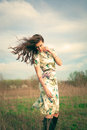 Wind in hair Royalty Free Stock Photo