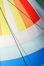 The wind has filled colorful spinnaker sail Royalty Free Stock Photos