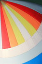 The wind has filled colorful spinnaker sail on sailing yacht detail of a as background Stock Image