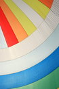 The wind has filled colorful spinnaker sail on sailing yacht detail of a as background Stock Photos
