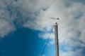Wind indicator speed on sailing boat mast Stock Image