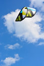 Wind kite on a blue sky Royalty Free Stock Photo