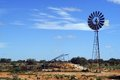 Wind mill in the Australian bush Royalty Free Stock Photography