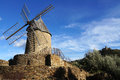 Wind mill of Collioure Stock Photography