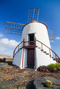 Wind mill on lanzarote island canary islands spain Stock Image