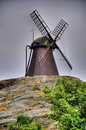 Wind mill old in sweden Royalty Free Stock Photo