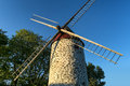 Wind mill view of a typical in montreal quebec canada Stock Photos