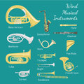 Wind Musical Instruments Royalty Free Stock Photo