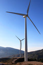 Wind Park in the Sierra Nevada, Andalusia, Spain Stock Photos