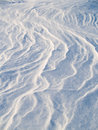 Wind patterns in snow Royalty Free Stock Image