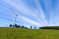 Wind power generator on the grassland chengde hebei province north china Stock Photo