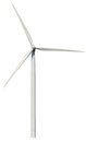 Wind power generator isolated white background Stock Image