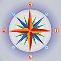Wind Rose / Compass in Multiple Colors Stock Images