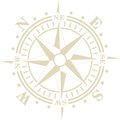 Wind rose old style compass Stock Photography