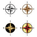 Wind rose set Royalty Free Stock Photo