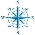Wind rose the sign on the old maps this is file of eps format Royalty Free Stock Photo