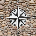 Wind rose on stone background symbol Stock Photography
