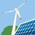 Wind and Solar Energy Royalty Free Stock Photo