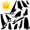 Wind surfing vector Stock Image