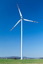 Wind turbine, alternative energy Stock Image